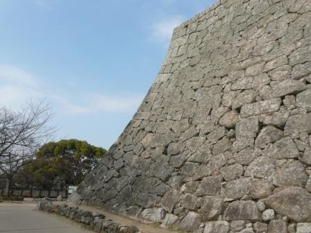 松山城 石垣