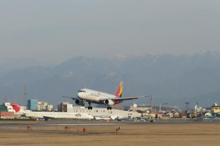 松山空港 アシアナ航空 エアバスA321 (2)
