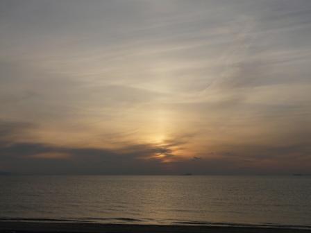 塩屋海岸 夕景