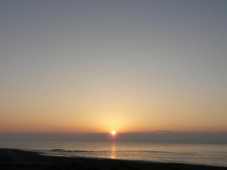 土佐湾 朝の景色 4