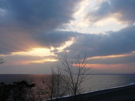芸西村・琴ヶ浜 の夕景 2