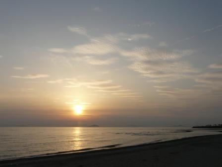 塩屋海岸 夕景 (5月2日) 1