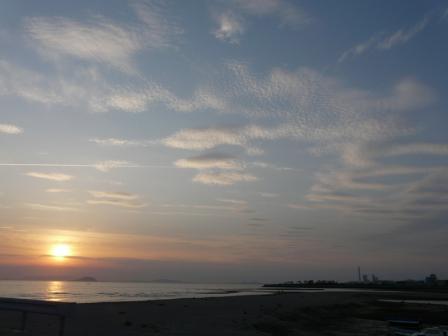 塩屋海岸 夕景 (5月2日) 3