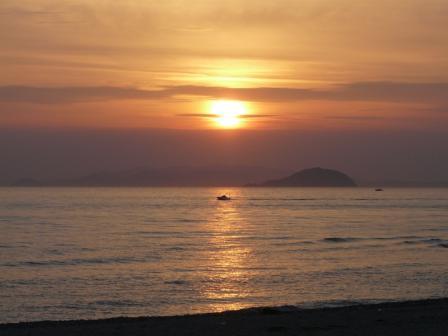 塩屋海岸 夕景 (5月2日) 4
