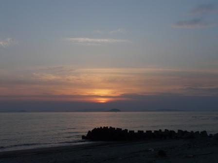 塩屋海岸 夕景 (5月2日) 5