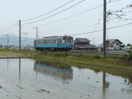 松前町 水田 & キハ54形