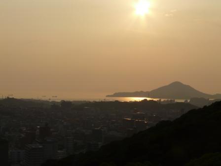 山頂広場からの夕景 1