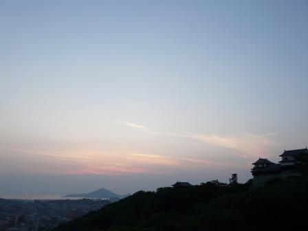 城山からの夕景 1
