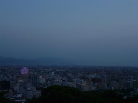 お城山からの夕景 4