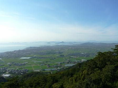 谷上山展望台から 16:46