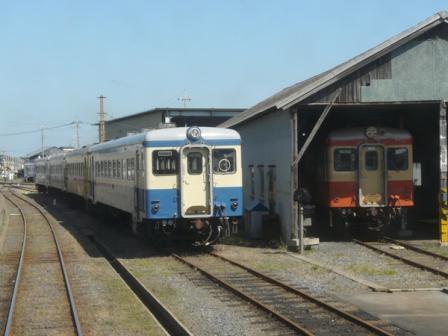 ひたちなか海浜鉄道 那珂湊駅 キハ22形 & キハ20形