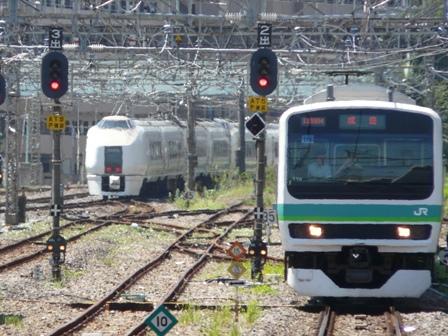 JR我孫子駅 E231系 & スーパーひたち (651系)