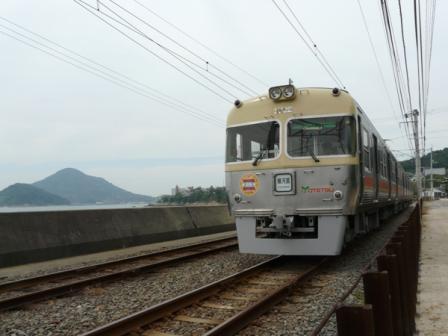 伊予鉄道・梅津寺駅 3000系 5