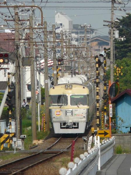 伊予鉄道・田窪駅付近 3000系 6
