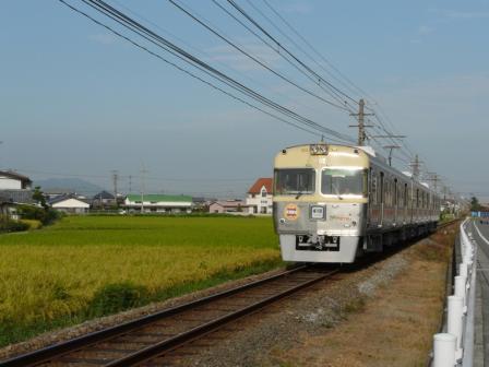 伊予鉄道・田窪駅付近 3000系 7