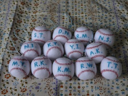 野球ボール・ストラップ 2
