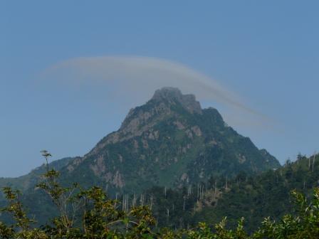 土小屋からの 石鎚山