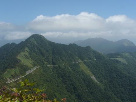 瓶ヶ森登山道からの眺望