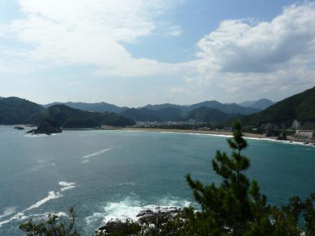 美波町 恵比須洞・山上展望台からの大浜海岸