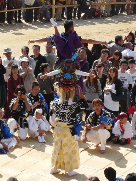 菊間祭り 獅子舞 9