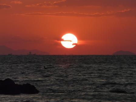 鴨池海岸 夕景 2