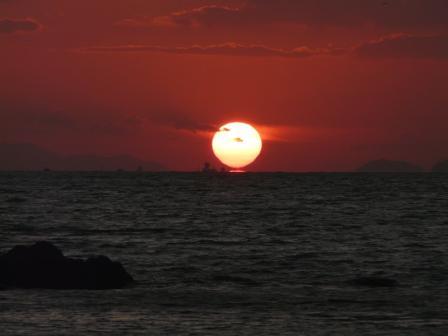 鴨池海岸 夕景 3