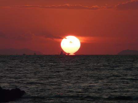 鴨池海岸 夕景 4