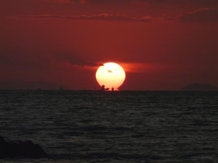鴨池海岸 夕景 5