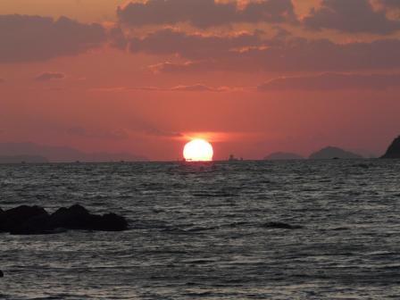 鴨池海岸 夕景 7