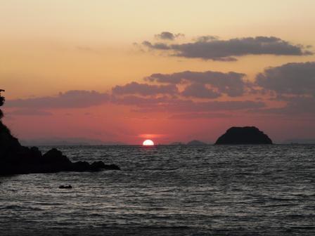 鴨池海岸 夕景 8