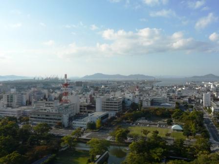 丸亀城からの眺め 3