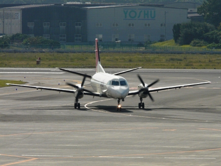松山空港 2  JAL-SAAB340B