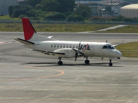 松山空港 3  JAL-SAAB340B