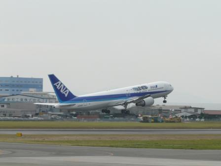 松山空港 16  坂の上の雲ラッピングジェット