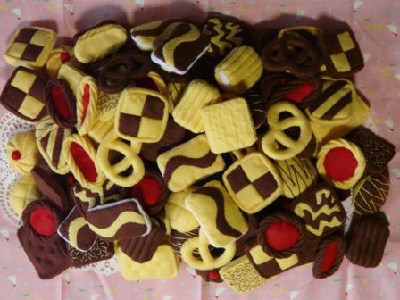 フェルト手芸 クッキー 4セット