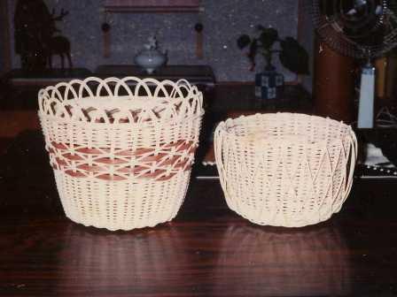 籐手芸 鉢カバー 6