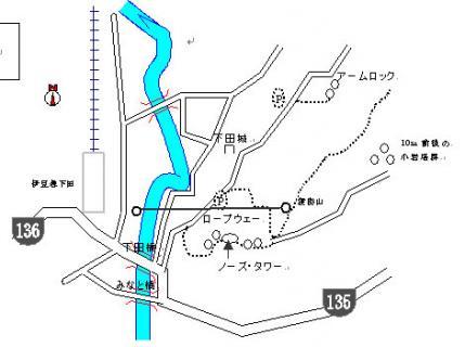 下田寝姿山全体地図