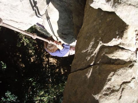 城山インナーウォール2への登りは最後がきつい