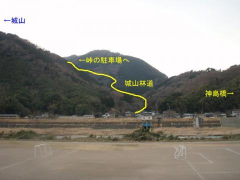 城山神島橋付近のサッカーコート