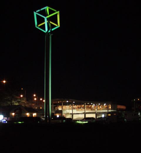 夜の道の駅伊豆のへそ
