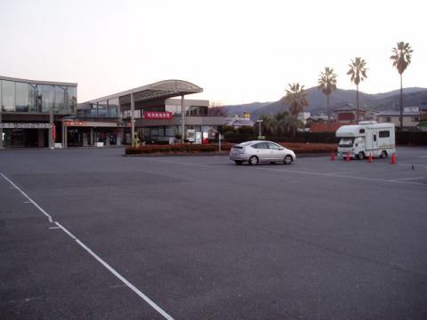 道の駅伊豆のへその駐車場と洋らんパーク
