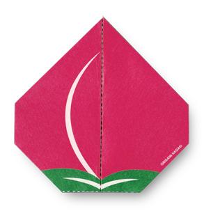 折り紙ユニットcochaeがデザイン 「折れるポストカード」