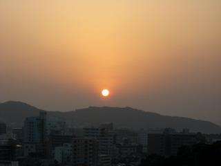 12日の夕陽