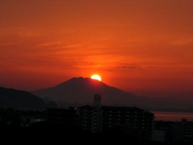 9日の夕陽