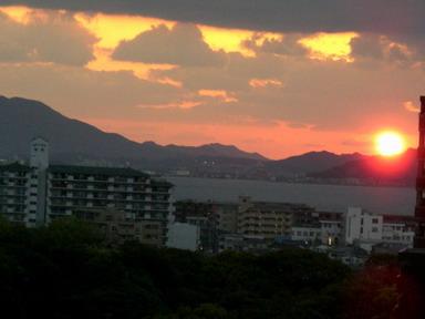 きょうの夕日