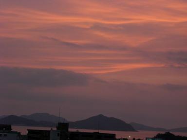 2日の夕陽