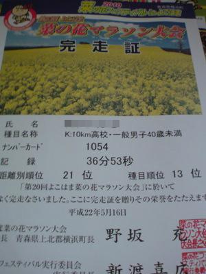 2010菜の花マラソン結果