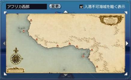 西アフリカの入港許可の地図