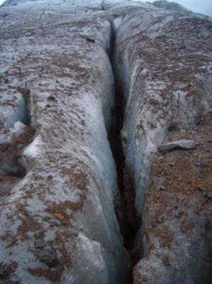 氷河の割れ目