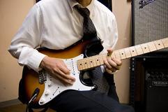 エレキギターの練習